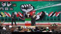 إيران تعلن فتح مقبرة خاصة لليمنيين وترفع صورة الحوثي مع حسن نصر الله والنمر والخميني (صور)