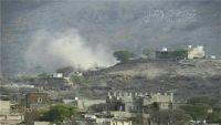 مليشيا الحوثي والمخلوع تقصف قرى المواطنين بقعطبة وإصابة امرأة وطفلة حتى الآن