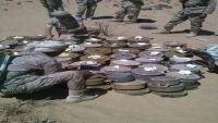 تدمير 2.5 طن من الألغام ومخلفات الحرب بمحافظة مأرب (صور)