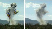 فنانة يمنية تحول صور الدمار إلى لوحات فنية (صور)