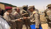 الفريق علي محسن الأحمر في مأرب برفقة قائد العمليات الخاصة لقوات التحالف (صور)