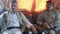 """الشيخ حمود المخلافي يلتقي قائد لواء """"صحن الجن"""" في مأرب"""