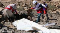 الجوف: الهلال الأحمر ينتشل جثث قتلى الحوثيين بالمصلوب