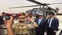 الرئيس هادي ونائبه يغادران مأرب بعد زيارة قصيرة استمرت عدة ساعات