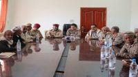 المقدشي يلتقي قيادات الجيش الوطني في شبوة ويوجه بسرعة تنفيذ المهام الموكلة إليهم