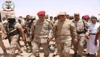 الفريق علي محسن الأحمر يصل إلى محافظة مأرب للإشراف على العملية العسكرية شرق صنعاء