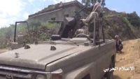 مليشيا الحوثي والمخلوع تواصل قصف مواقع الجيش والمقاومة في جبهة الاحكوم جنوب تعز