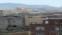 سلسلة غارات عنيفة للطيران على أهداف في العاصمة صنعاء ونهم وعمران