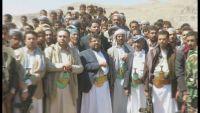 محمد علي الحوثي في عمران مستنجدا بالقبائل لإمداد جماعته بالمقاتلين  (صورة)