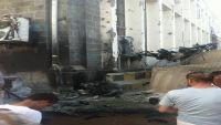 سيارة مفخخة تستهدف مبنى البنك المركزي في عدن
