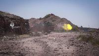 معارك عنيفة بين قوات الجيش والمقاومة والمليشيات الانقلابية في جبهة الصلو جنوب شرق تعز