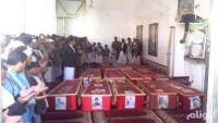 19 جثة لمليشيا الحوثي تصل ذمار قادمة من تعز