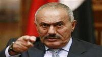 """""""المخلوع صالح"""" يجدّد اتهامه للحوثيين بإقصاء أنصاره"""