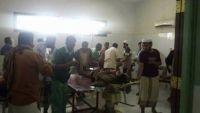 إصابة 11 بينهم 6 جنود بانفجار عبوة ناسفة استهدفت طقما للحزام الأمني بأبين