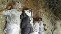 البيضاء : تشييع جثامين مشائخ آل عمر الذين أعدمتهم ميليشيا الحوثي
