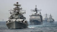 بوارج التحالف العربي تقترب من ميناء المخا