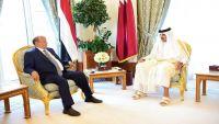 الرئيس هادي يناقش مع أمير قطر إمكانية وضع وديعة نقدية في البنك المركزي