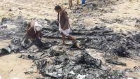 غموض يلف حقيقة الطائرة التي سقطت أمس الثلاثاء بمدينة مأرب (فيديو - صور)