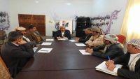 تنفيذي صنعاء يناقش آلية صرف المرتبات والمشاريع التنموية في المناطق المحررة