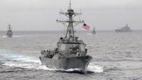 مدمرة أمريكية تنفذ 5 طلقات تحذيرية لسفينة إيرانية في الخليج