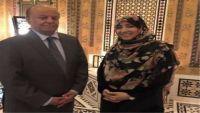 """""""كرمان"""" تبحث مع الرئيس هادي سبل استعادة الدولة وبناء السلام"""