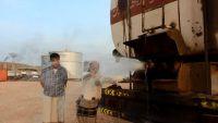 العثور على شاحنة نقل مازوت لكهرباء ساحل حضرموت بداخلها مياه قادمة من مأرب (صور)