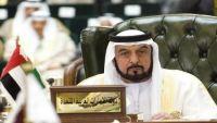 خليفة بن زايد رئيس الإمارات يستقبل المهنئين بالعيد في ظهور نادر منذ 2014