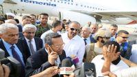 بن دغر يغادر عدن بتوجيهات من الرئيس هادي