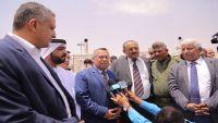 بن دغر يفتتح محطة كهرباء في محافظة لحج
