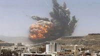 التحالف يشن غارات على مجمع وزارة الدفاع بصنعاء وإصابة مدنيين