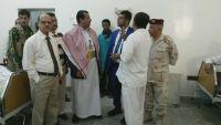 وكيل وزارة الصحة الحيدري يتفقد سير العمل بمستشفى مأرب العسكري