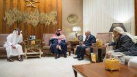 وليا عهد السعودية والإمارات يناقشان مع رئيس حزب الإصلاح مستجدات الوضع باليمن