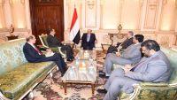 الرئيس هادي يناقش مع ولد الشيخ جهود استئناف مفاوضات السلام