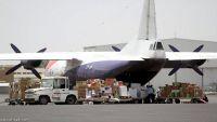 55 طنا مساعدات طبية تصل مطار صنعاء