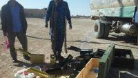 أمن الجوف يضبط أجهزة اتصالات وأسلحة كانت في طريقها للحوثيين