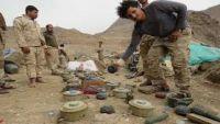 الجيش الوطني ينزع عشرات الألغام في مدينة ميدي