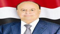 الرئيس هادي: سنظل دعاة سلام حتى وقد أوشكنا على حسم المعركة عسكريا