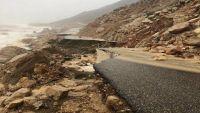 انهيار شبكة الطرق في سقطرى بسبب إعصار مكونو