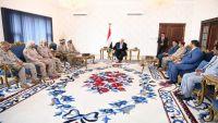 هادي يلتقي قائد قوات التحالف بعدن