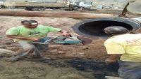 توقف المياه في بعض مديريات عدن والفرق الفنية تبدأ إصلاح الأنبوب الرئيسي