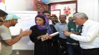 مديرة وكالة أنباء إيرين الإنسانية تزور مأرب وتطلع على الانتهاكات بحق الأطفال والنازحين