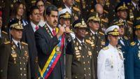 شاهد لحظة محاولة اغتيال الرئيس الفنزويلي (فيديو)