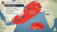 إعصار مداري سيقترب من عدن وسلطنة عمان