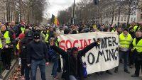 """""""السترات الصفراء"""" يتجهون نحو مقرات الاتحاد الأوروبي في بروكسل"""