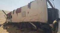 """حضرموت .. حادث مروري في """"العبر"""" يودي بحياة ستة أشخاص وإصابة العشرات"""