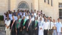 وقفة احتجاجية للقضاة في سيئون للمطالبة باعتماد ترقيات مجلس القضاء