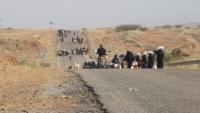 تنفيذية مخيمات النازحين تحذر من استمرار حصار الحوثيين على كُشر بحجة