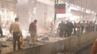 قتلى وجرحى إثر حريق في محطة قطار بالقاهرة (شاهد)
