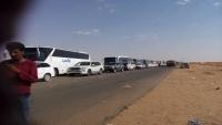 تكدس للمعتمرين في منفذ الوديعة ومنع عشرات الباصات والسعودية تواصل إهانتها لليمنيين