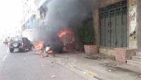 مقتل جندي وإصابة ستة آخرين في انفجار عبوة ناسفة بعدن